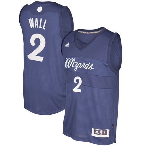 Wizards #2 John Wall Blue 2016-2017 Christmas Day Stitched NBA Jersey