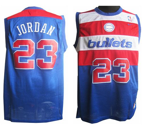 Wizards #23 Michael Jordan Blue Nike Throwback Stitched NBA Jersey