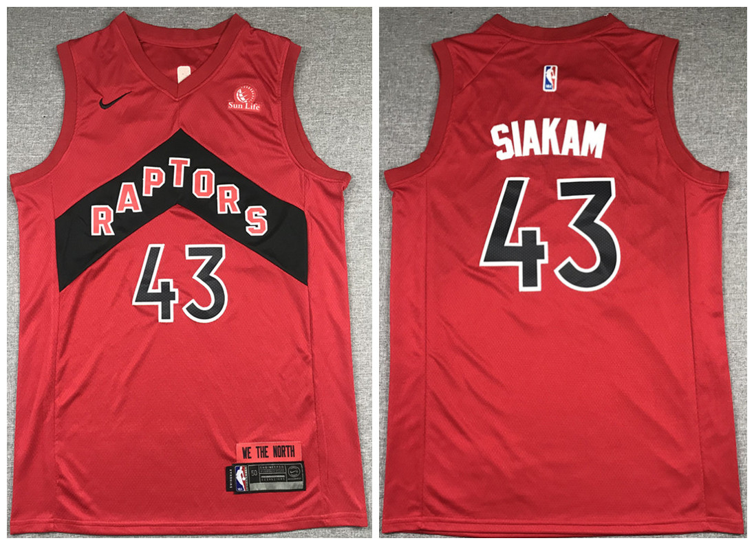 Men's Toronto Raptors #43 Pascal Siakam Red 2020/21 Icon Swingman Stitched NBA Jersey