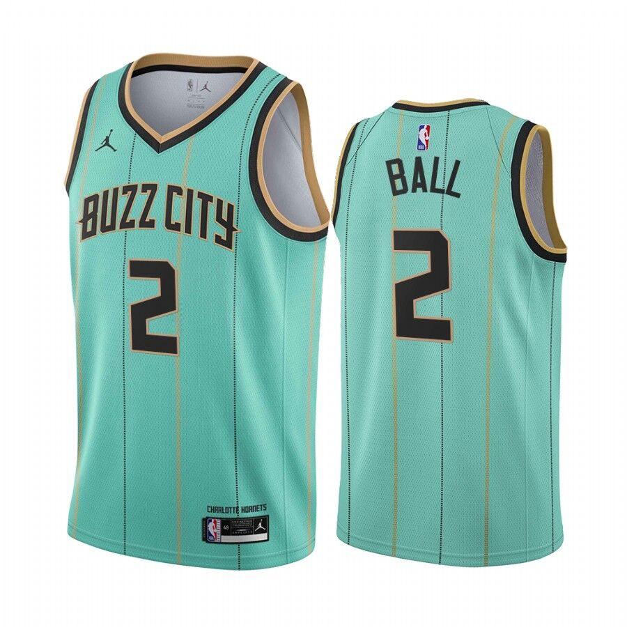 Men's Charlotte Hornets #2 LaMelo Ball 2020-21 Teal City Edition Swingman Stitched Jersey