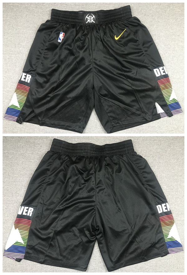 Men's Denver Nuggets Black Shorts (Run Small)
