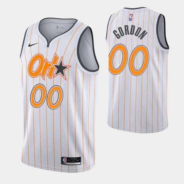 Men's Orlando Magic Active Player Custom 2020-21 White City Edition Stitched NBA Jersey