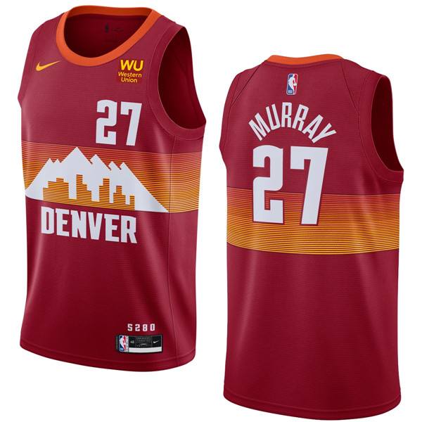Men's Denver Nuggets #27 Jamal Murray 2020-21 Red City Edition Stitched NBA Jersey