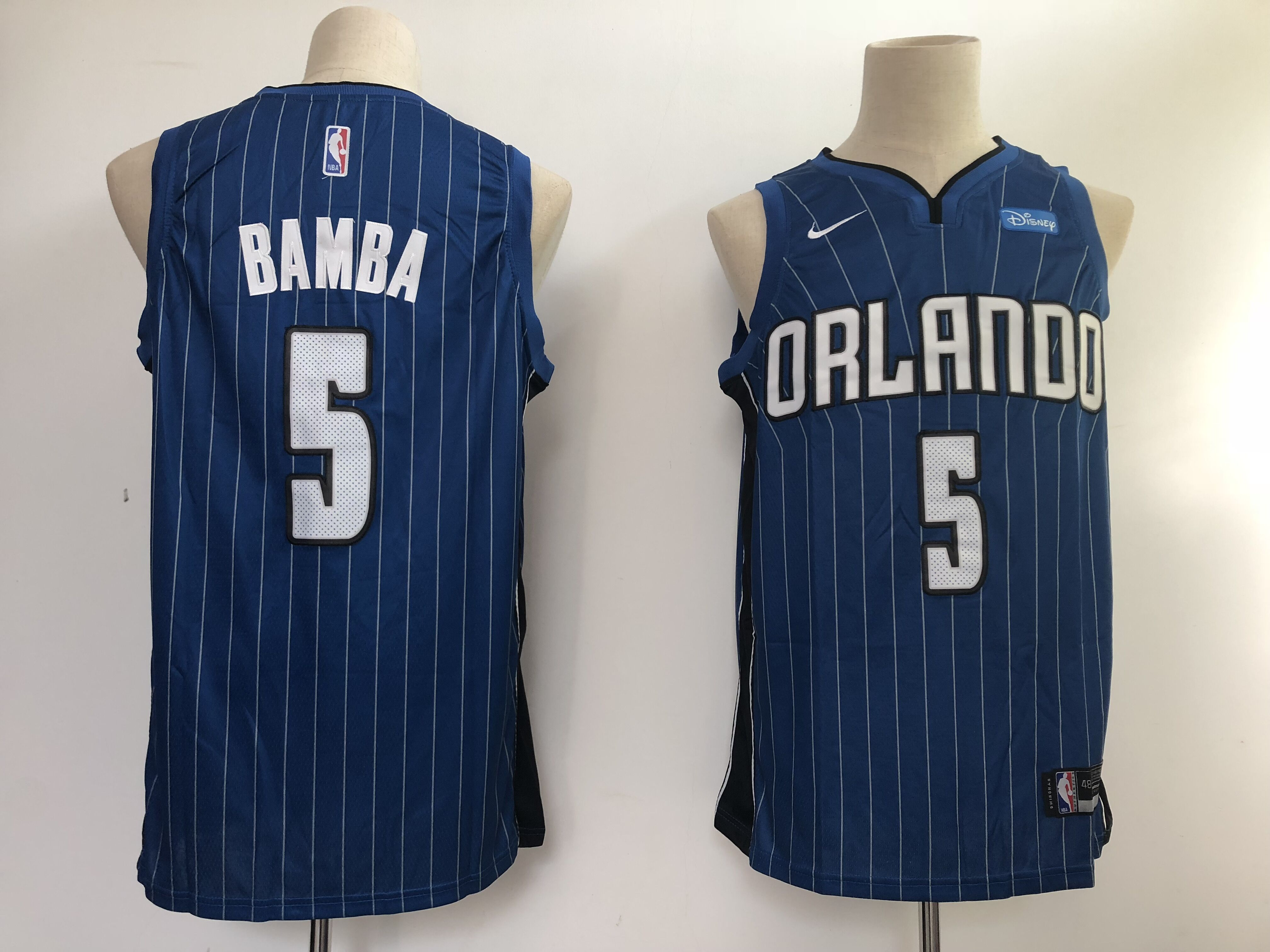 Magic #5 Mohamed Bamba Royal NBA Swingman Icon Edition Jersey