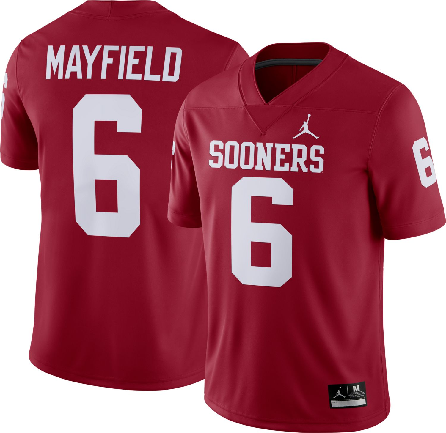 Men's Oklahoma Sooners #6 Baker Mayfield Red Game NCAA Jersey