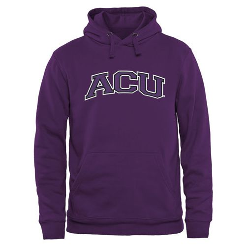 Abilene Christian University Wildcats Arch Name Pullover Hoodie Purple