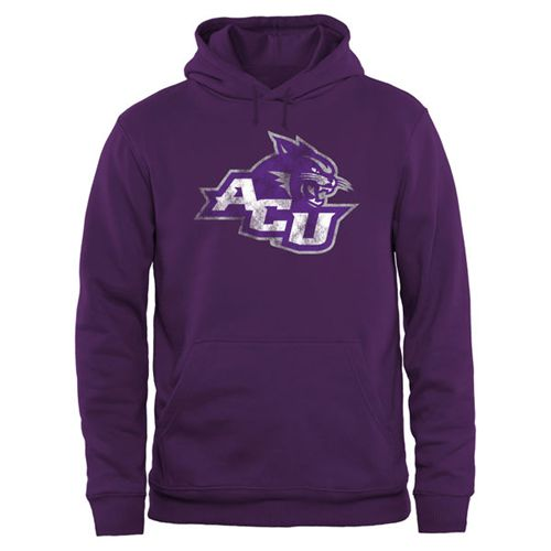 Abilene Christian University Wildcats Big & Tall Classic Primary Pullover Hoodie Purple