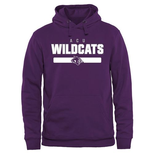 Abilene Christian University Wildcats Team Strong Pullover Hoodie Purple