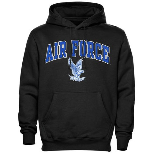 Air Force Falcons Midsize Arch Pullover Hoodie Black