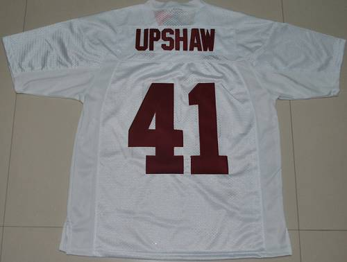 Crimson Tide #41 Courtney Upshaw White Stitched NCAA Jersey