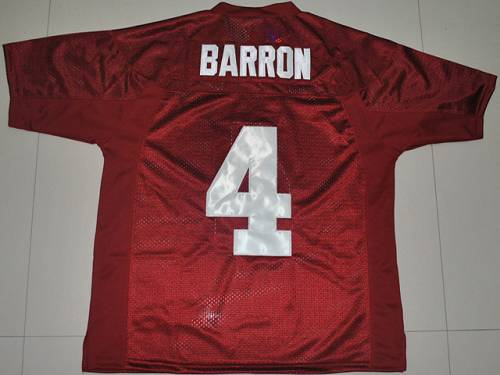 Crimson Tide #4 Mark Barron Red Stitched NCAA Jersey