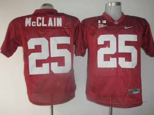 Crimson Tide #25 Rolando McClain Red 2016 College Football Playoff National Championship Patch Stitched NCAA Jersey