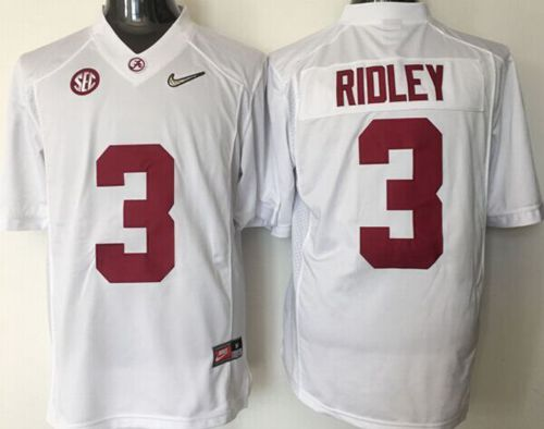 Crimson Tide #3 Calvin Ridley White 2016 National Championship Stitched NCAA Jersey