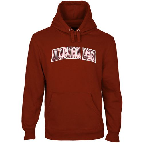 Alabama A&M Bulldogs Arch Name Pullover Hoodie Maroon