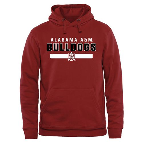 Alabama A&M Bulldogs Team Strong Pullover Hoodie Maroon