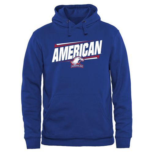American Eagles Double Bar Pullover Hoodie Royal
