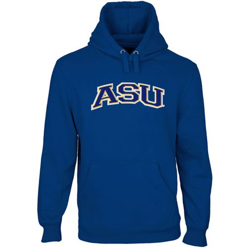 Angelo State Rams Arch Name Pullover Hoodie Royal Blue