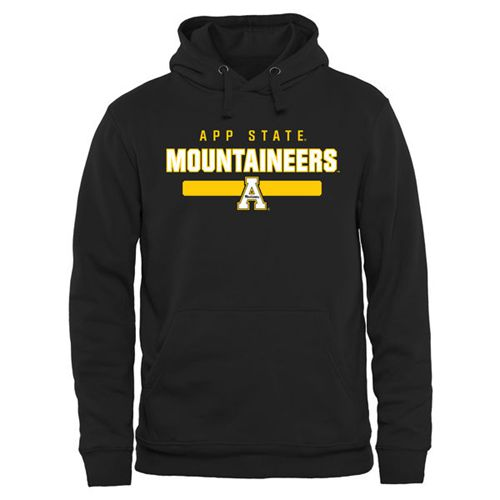 Appalachian State Mountaineers Team Strong Pullover Hoodie Black