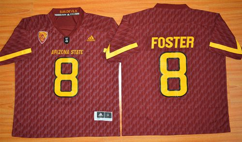 Sun Devils #8 D. J. Foster New Red Stitched NCAA Jersey