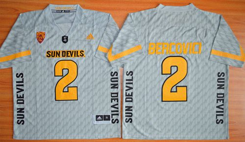 Sun Devils #2 Mike Bercovici New Grey Stitched NCAA Jersey