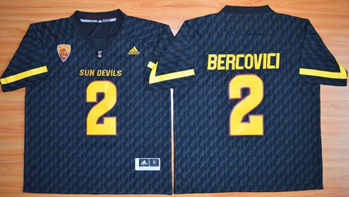 Sun Devils #2 Mike Bercovici New Black Stitched NCAA Jersey