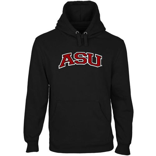 Arkansas State Red Wolves Arch Name Pullover Hoodie Black