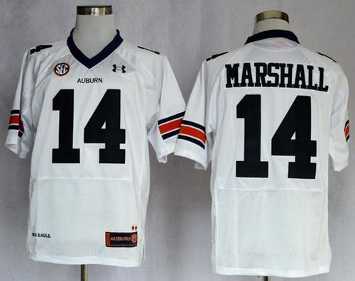 Tigers #14 Nick Marshall White Stitched NCAA Jersey