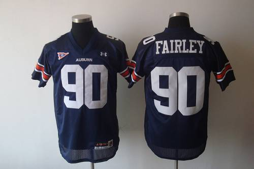 Tigers #90 Fairley Blue Stitched NCAA Jersey