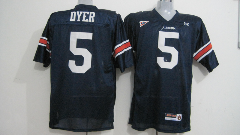 Tigers #5 Michael Dyer Blue Stitched NCAA Jersey
