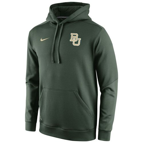 Baylor Bears Nike Sideline KO Chain Fleece Therma-FIT Hoodie Green