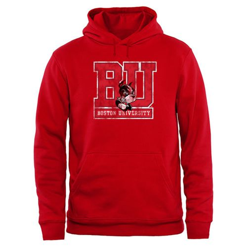Boston University Big & Tall Classic Primary Pullover Hoodie Red