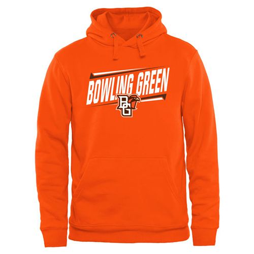 Bowling Green St. Falcons Double Bar Pullover Hoodie Orange