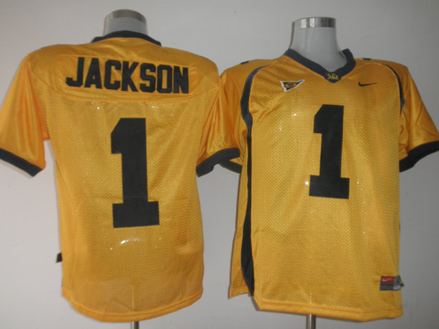 Golden Bears #1 DeSean Jackson Gold Stitched NCAA Jersey