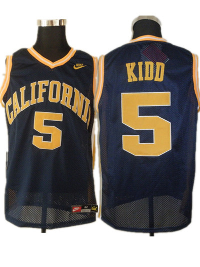 Golden Bears #5 Jason Kidd Blue Basketball Stitched NCAA Jersey