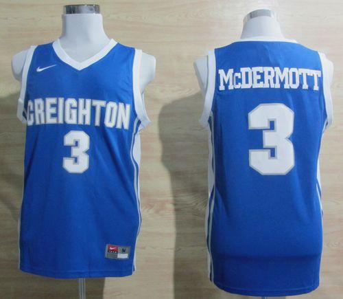 Bluejays #3 Doug McDermott Light Blue Basketball Stitched NCAA Jersey