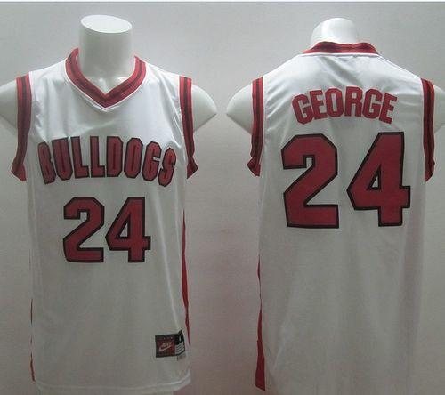 Bulldogs #24 Paul George White Basketball Stitched NCAA Jersey