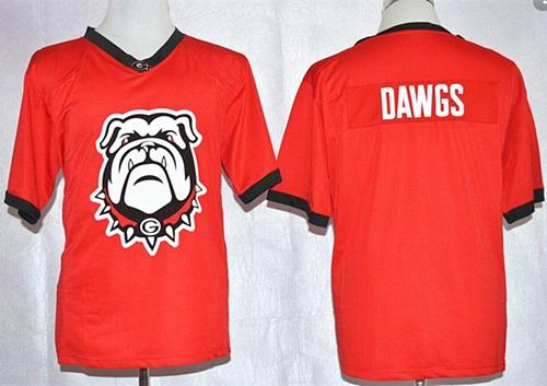 Bulldogs Dawgs Red Pride Fashion Stitched NCAA Jersey