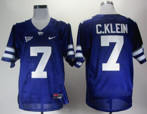 Wildcats #7 Collin Klein Purple Big 12 Patch Stitched NCAA Jersey