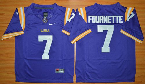 LSU Tigers #7 Leonard Fournette Purple Limited Stitched NCAA Jersey