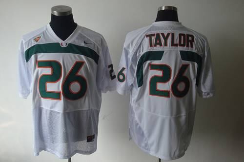Hurricanes #26 Sean Taylor White Stitched NCAA Jerseys