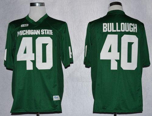 Spartans #40 Max Bullough Green Stitched NCAA Jersey