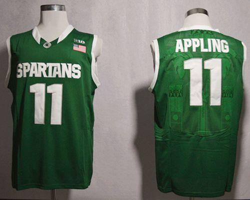Spartans #11 Keith Appling Green Basketball Stitched NCAA Jersey