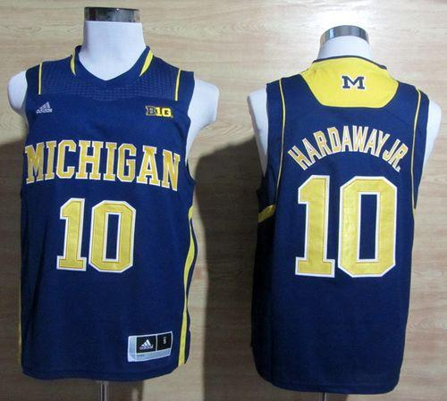 Wolverines #10 Tim Hardaway Jr. Navy Blue Basketball Stitched NCAA Jersey
