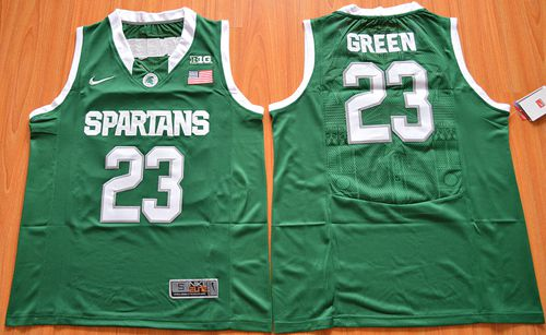 Spartans #23 Draymond Green Green Authentic Basketball Stitched NCAA Jersey