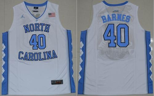 North Carolina #40 Harrison Barnes White Stitched NCAA Jersey