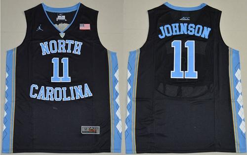 North Carolina #11 Brice Johnson Black Basketball Stitched NCAA Jersey