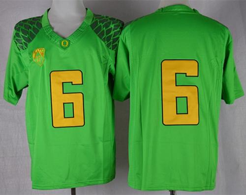 Ducks #6 Charles Nelson Green Limited Stitched NCAA Jersey