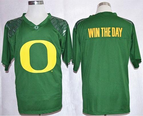 Ducks Win The Day Green Pride Fashion Stitched NCAA Jersey