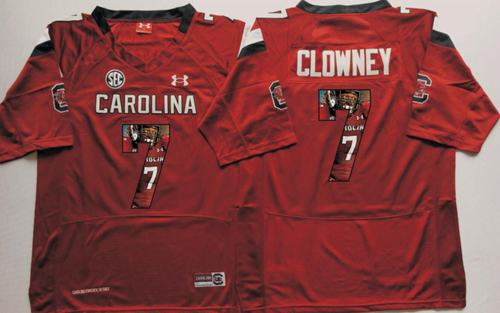 Fighting Gamecocks #7 Jadeveon Clowney Red Player Fashion Stitched NCAA Jersey