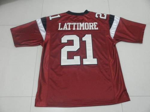 Fighting Gamecocks #21 Marcus Lattimore Red Stitched NCAA Jersey